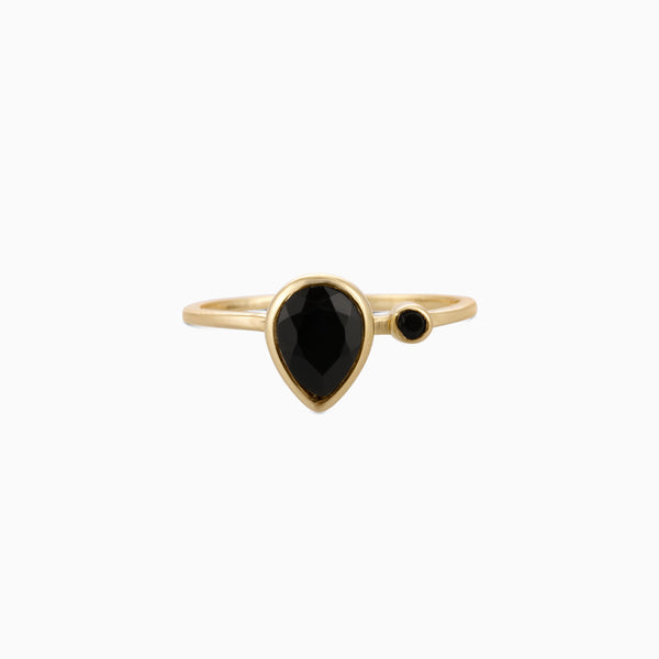 Drop Facet Black Onyx
