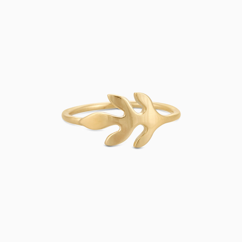 Golden Olive Leaf Ring