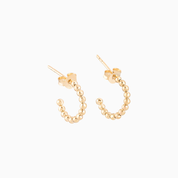 Golden Sphere Hoops Tiny