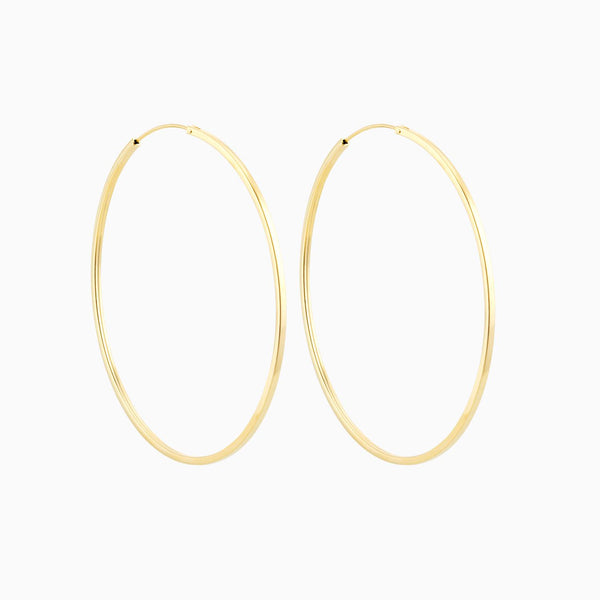 Golden Firkantede Hoops 60mm