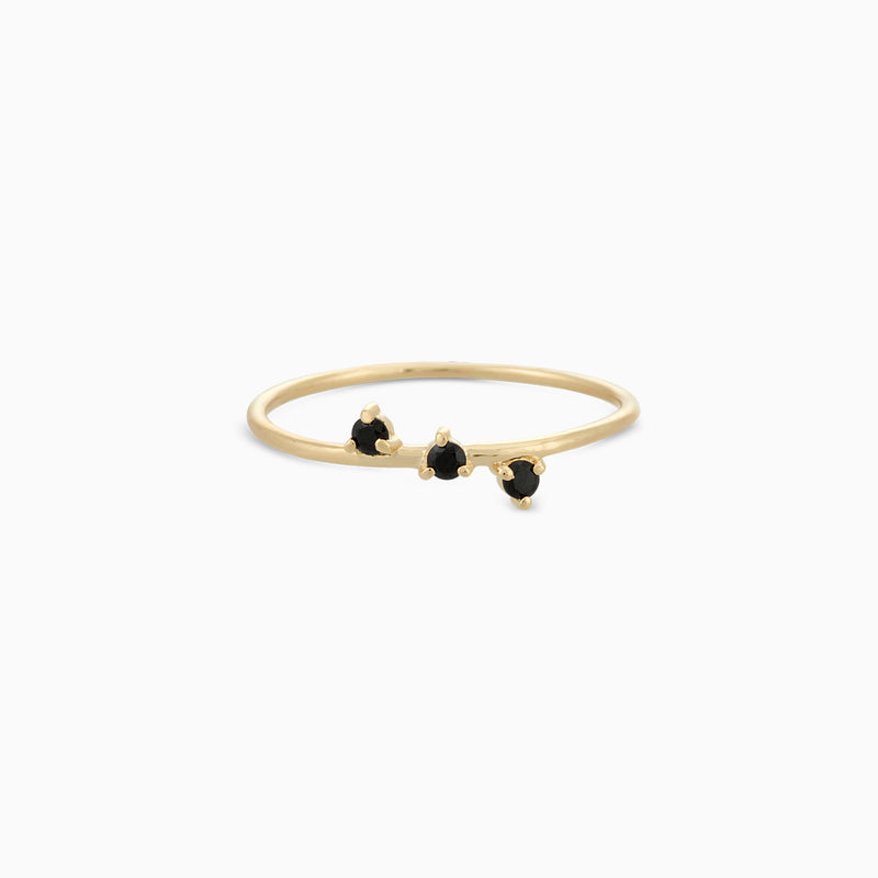Golden So Black Spinel Ring