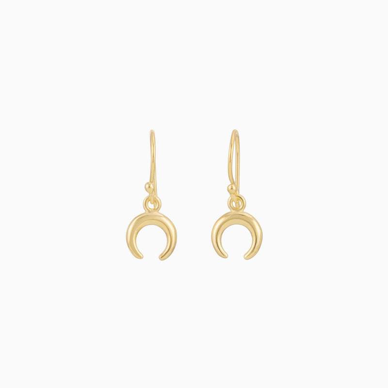 Golden Crescent Moon Earrings