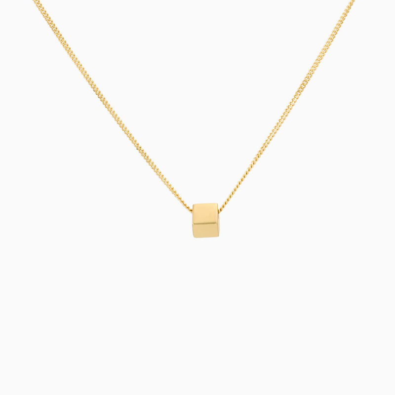 Golden Square Necklace
