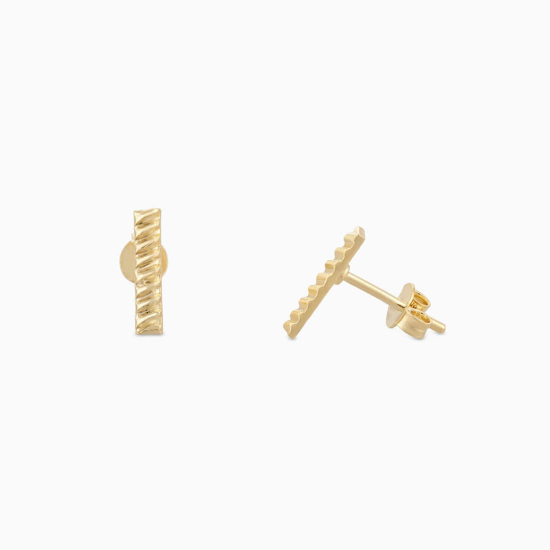 Golden Stripe Bar Studs