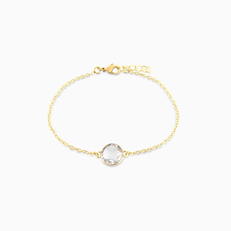 Circle facet Crystal (Bracelet)