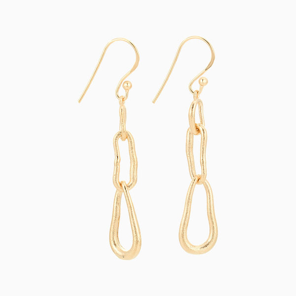 Golden Links Earrings