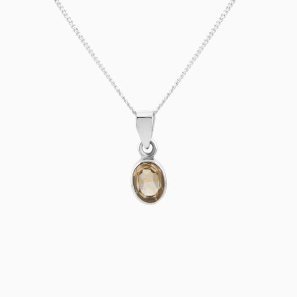 Oval Facet Citrine (Pendant)