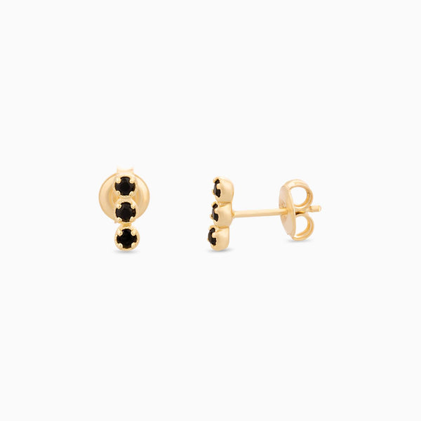 Golden So Black Spinel Studs