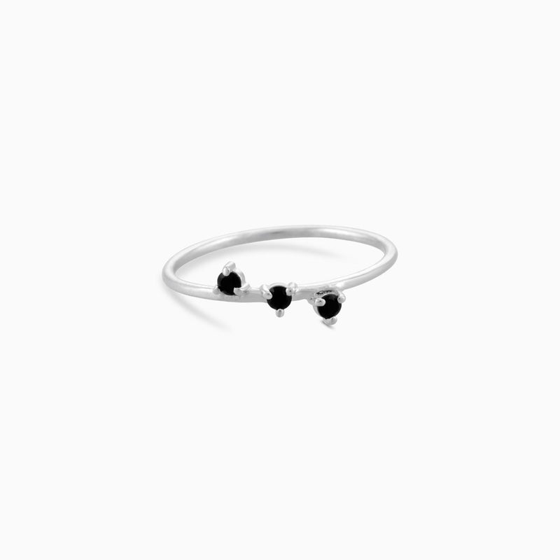 SO Black Spinel Ring