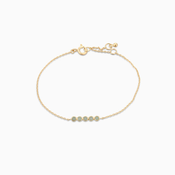 Golden Grace Green Aventurine Bracelet