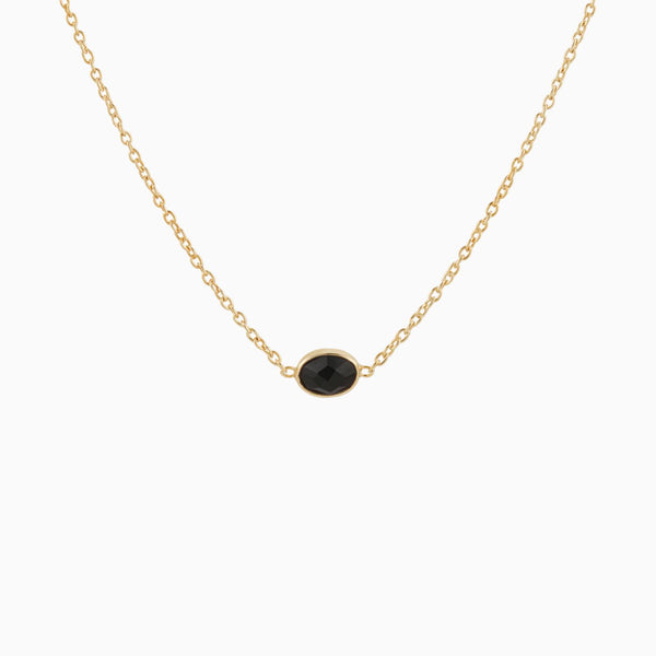 Golden Black Onyx Necklace