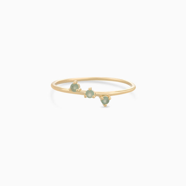 Golden So Green Aventurine Ring