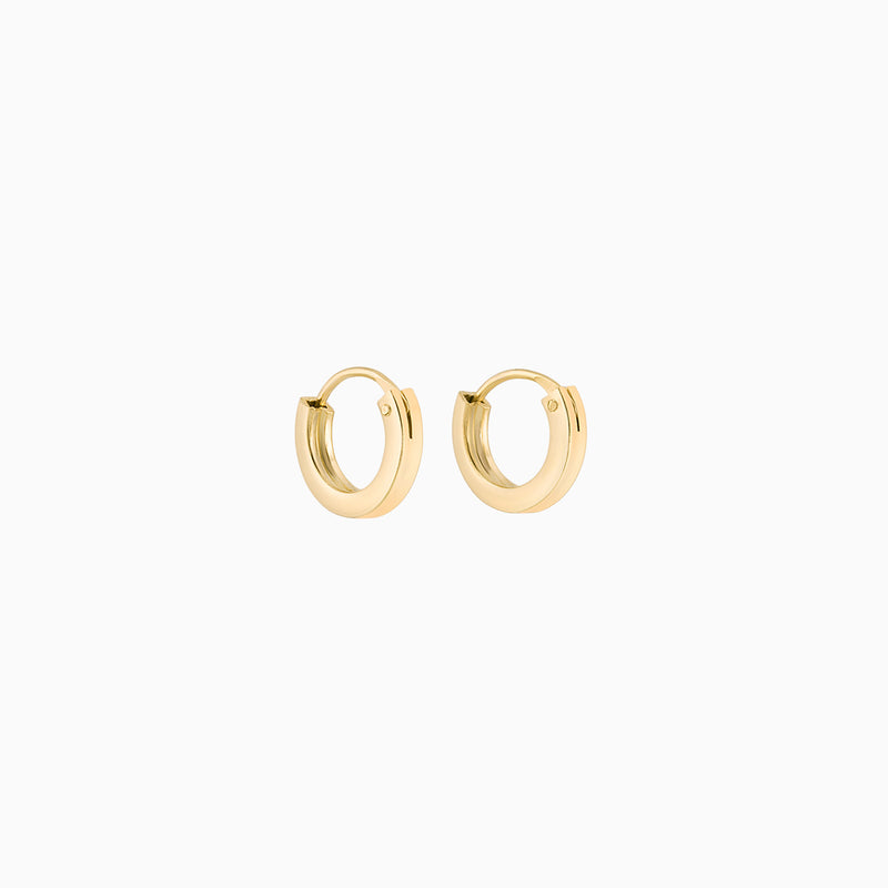 Golden Firkantede Hoops 2x10mm