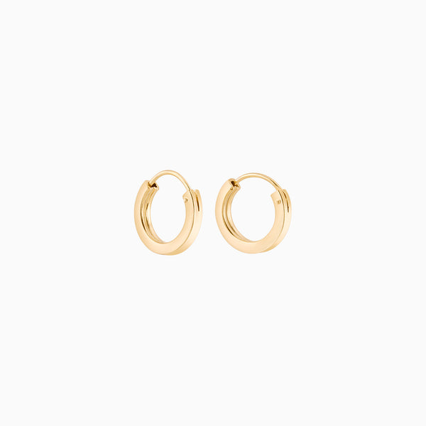Golden Firkantede Hoops 2x12mm
