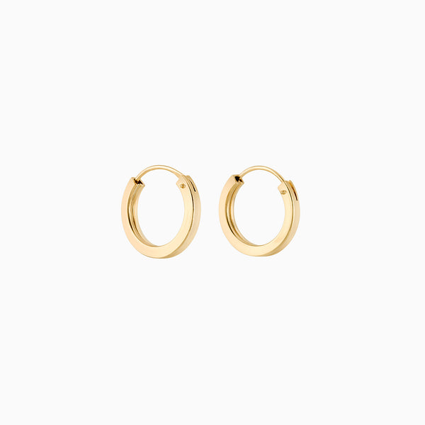 Golden Firkantede Hoops 2x14mm
