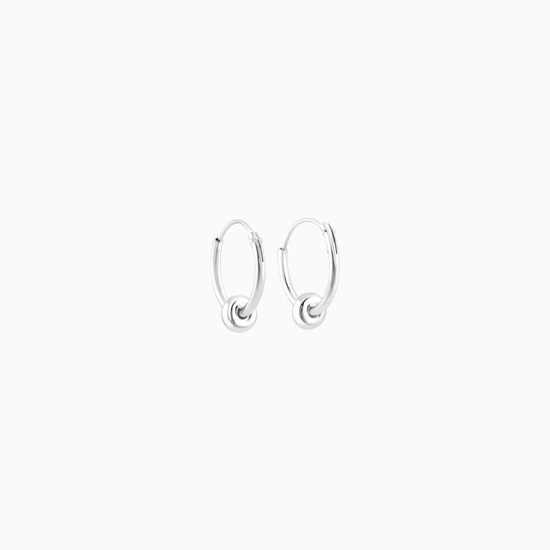 Silver Hoops 12mm W/ring