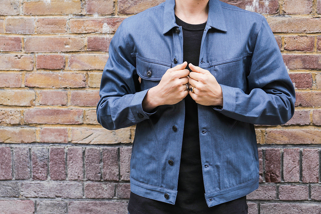 workwear style denim jacket created by benzak denim developers and candiani denim italy