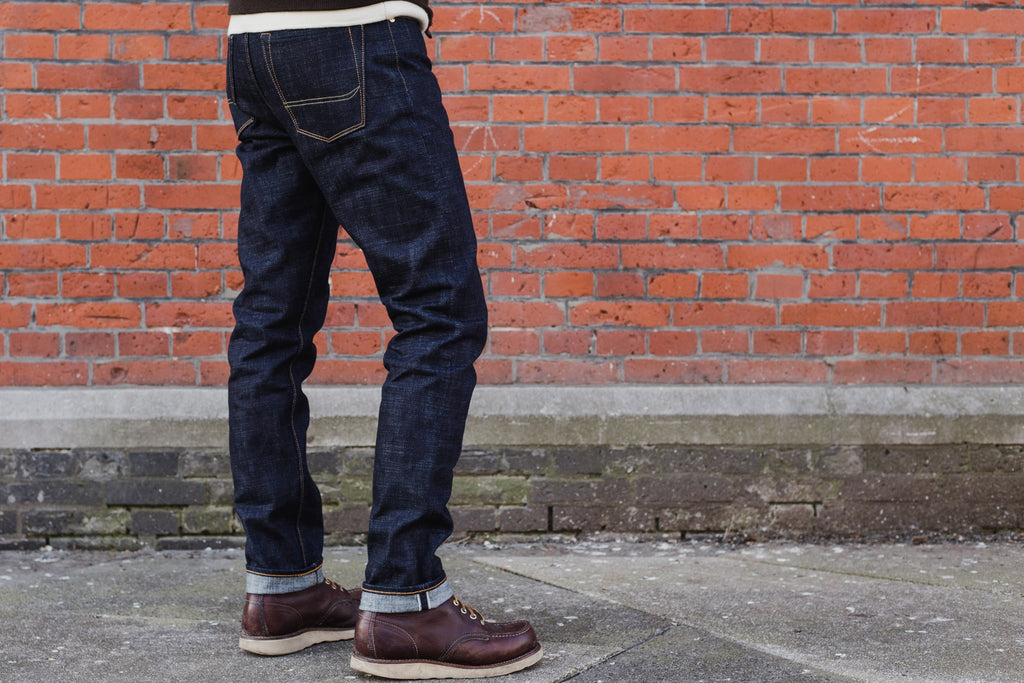 BDD BENZAK back pocket threads bull's horns made in Japan Japanese denim selvedge jeans BDD-711 BDD-006 heavy slub