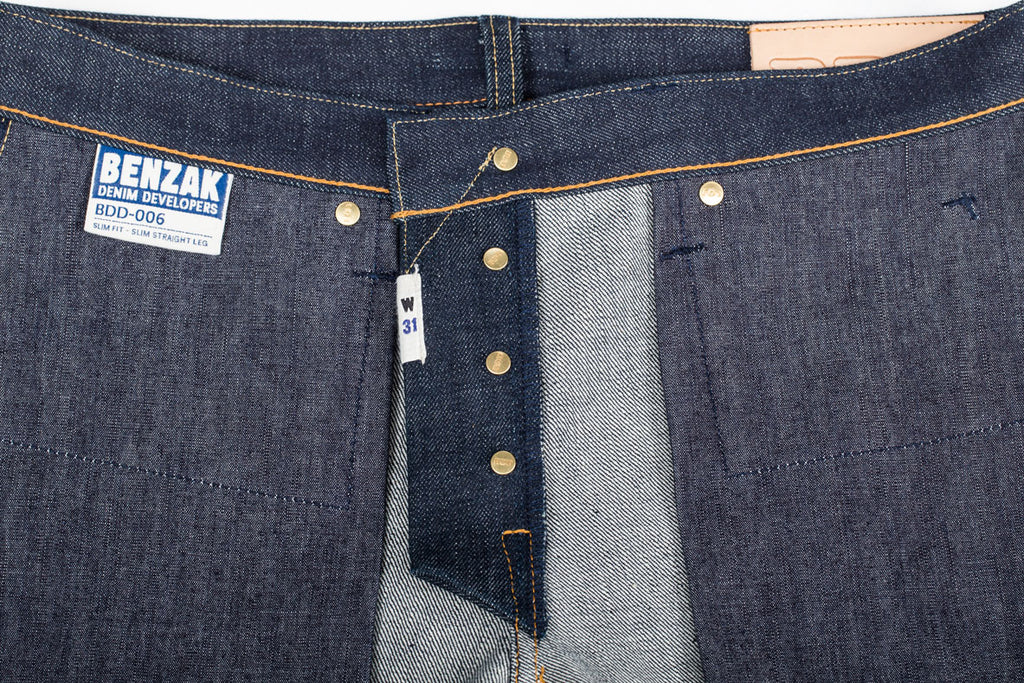 BDD BENZAK details made in Japan Japanese denim selvedge
