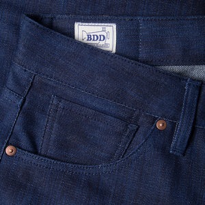 men's slim fit japanese  selvedge denim jeans | indigo | benzak B-01 SLIM 13 oz. blue flame BT selvedge | kurabo | coin pocket