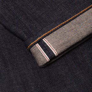 men's slim fit italian selvedge denim jeans | indigo | benzak B-01 SLIM 13 oz. brown cotton selvedge  | candiani | selvedge id