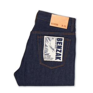 men's tapered fit italian selvedge denim jeans | benzak B-03 TAPERED 13 oz. indigo selvedge | Candiani | back