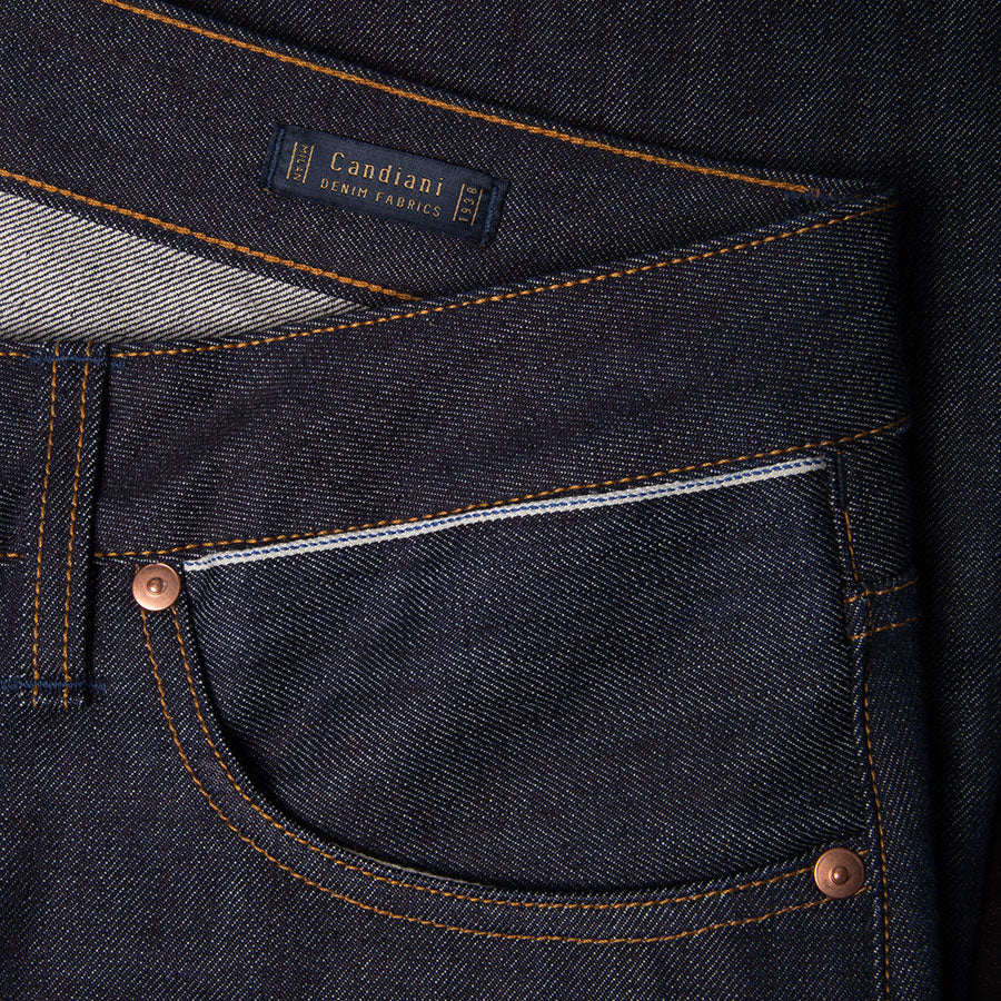 men's tapered fit japanese selvedge denim jeans | indigo | benzak | B-03 TAPERED special #2 15 oz. vintage indigo selvedge | candiani | hidden 6th pocket | hidden sixth pocket