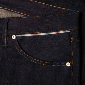 men's relaxed fit italian selvedge denim jeans | benzak B-04 RELAXED 13 oz. brown cotton selvedge | sixth pocket