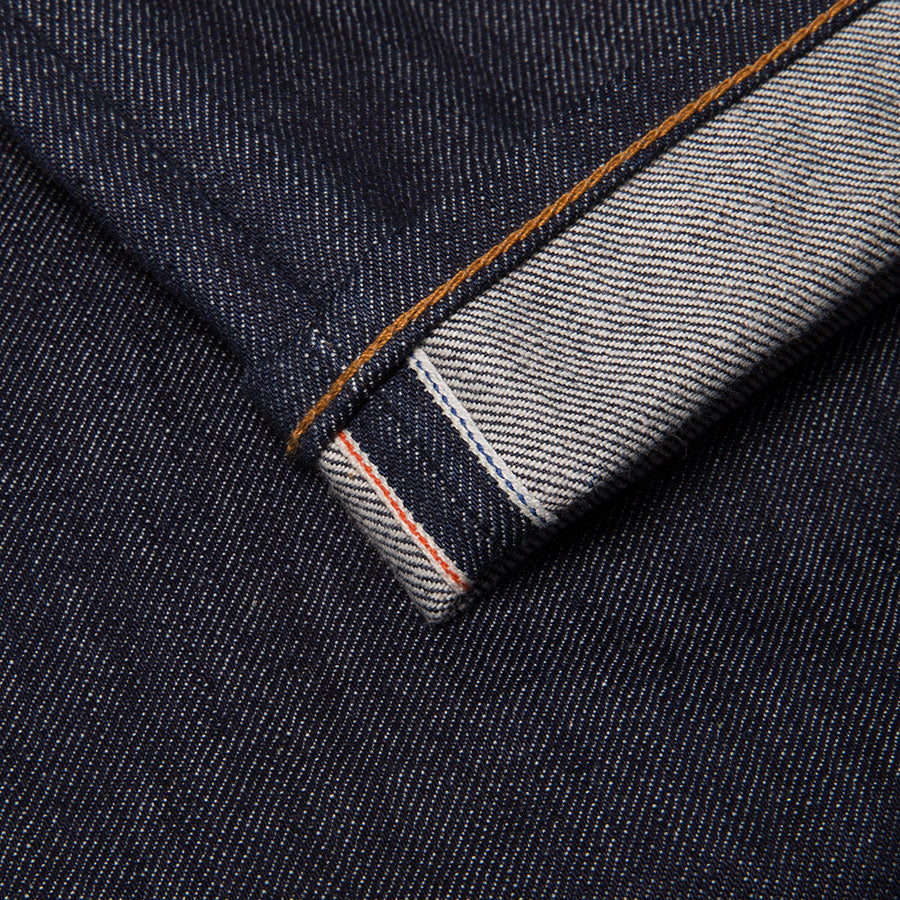 B-04 RELAXED special #2 15 oz. vintage indigo selvedge created by BENZAK in collaboration with Candiani denim. Contemporary fit