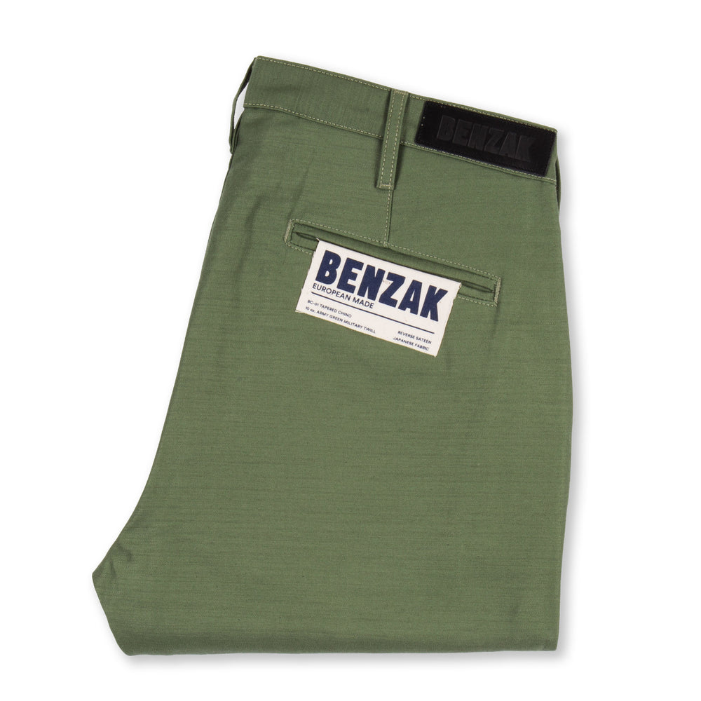 BC-01 TAPERED CHINO 10 oz. army green military twill