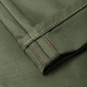 men's tapered fit chino | sateen | BC-01 TAPERED CHINO 10 oz. army green military twill | benzak | made in japan