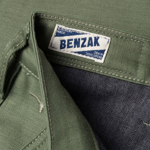 men's tapered fit chino | sateen | BC-01 TAPERED CHINO 10 oz. army green military twill | benzak | casual style