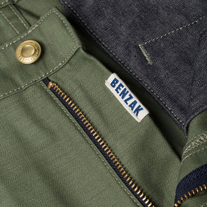 men's tapered fit chino | sateen | BC-01 TAPERED CHINO 10 oz. army green military twill | benzak | zip fly