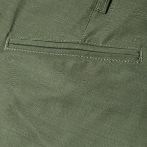 men's tapered fit chino | sateen | BC-01 TAPERED CHINO 10 oz. army green military twill | benzak | welt pocket