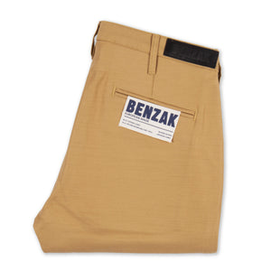 men's tapered fit chino | sateen | BC-01 TAPERED CHINO 10 oz. golden brown military twill | benzak | front
