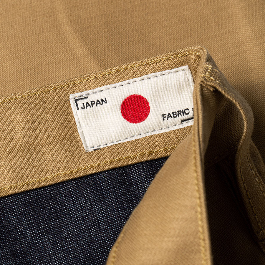 men's tapered fit chino | sateen | BC-01 TAPERED CHINO 10 oz. golden brown military twill | benzak | made in japan