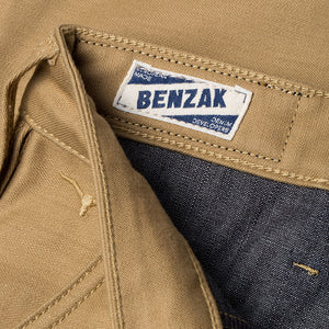 men's tapered fit chino | sateen | BC-01 TAPERED CHINO 10 oz. golden brown military twill | benzak | casual style