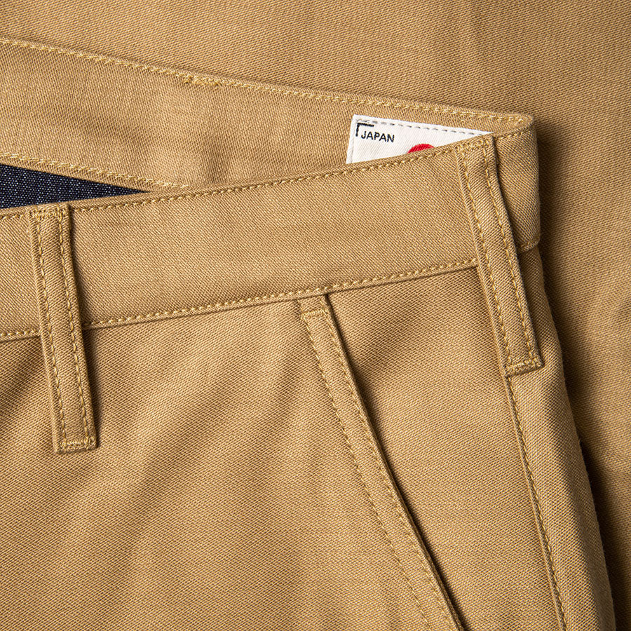 BC-01 TAPERED CHINO 10 oz. golden brown military twill