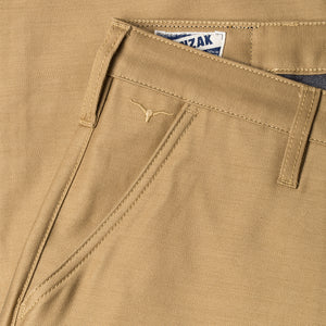 men's tapered fit chino | sateen | BC-01 TAPERED CHINO 10 oz. golden brown military twill | benzak | branding