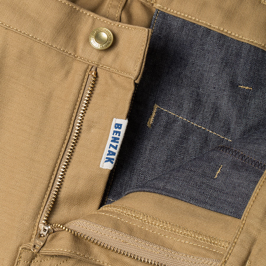 men's tapered fit chino | sateen | BC-01 TAPERED CHINO 10 oz. golden brown military twill | benzak | zip fly