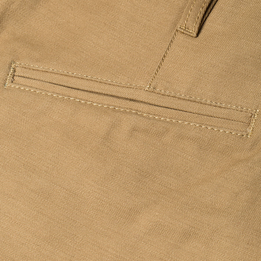 men's tapered fit chino | sateen | BC-01 TAPERED CHINO 10 oz. golden brown military twill | benzak | welt pocket