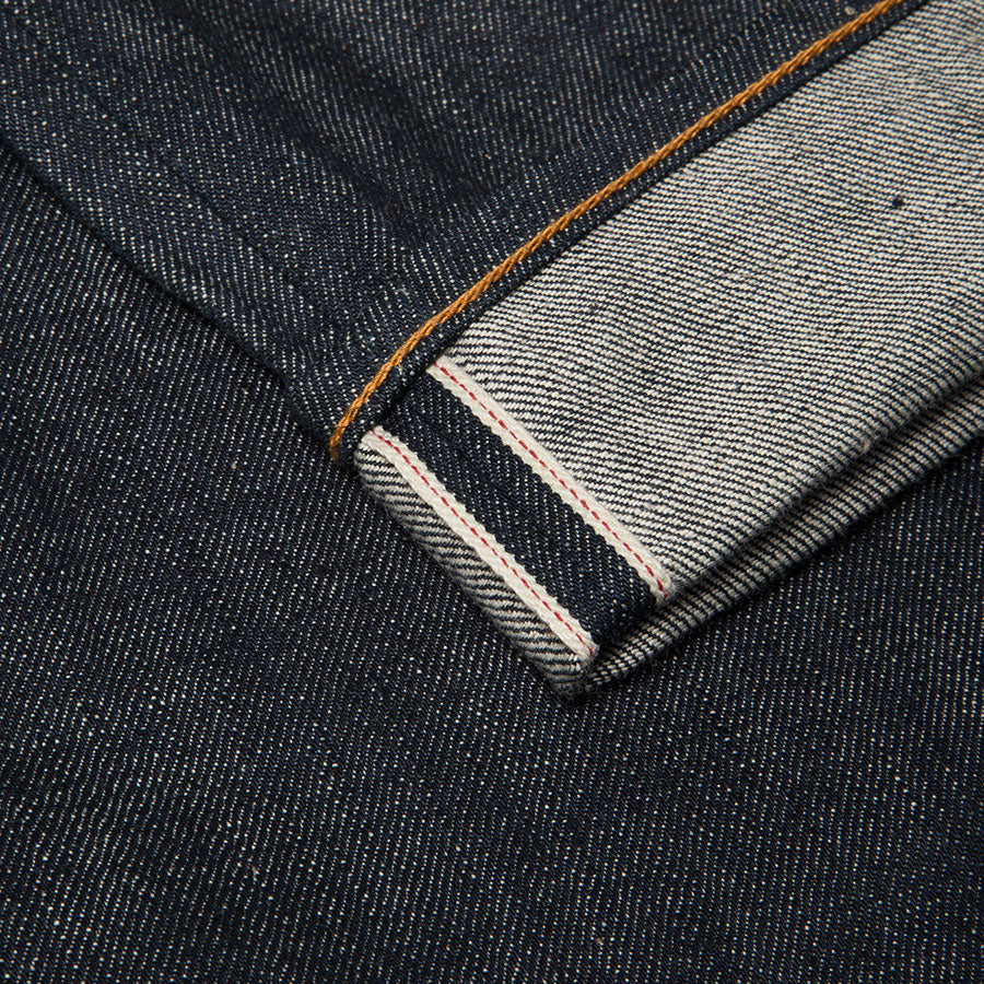 men's slim fit japanese selvedge denim jeans | indigo | made in japan | benzak BDD-006 green cast 15 oz. RHT | raw denim