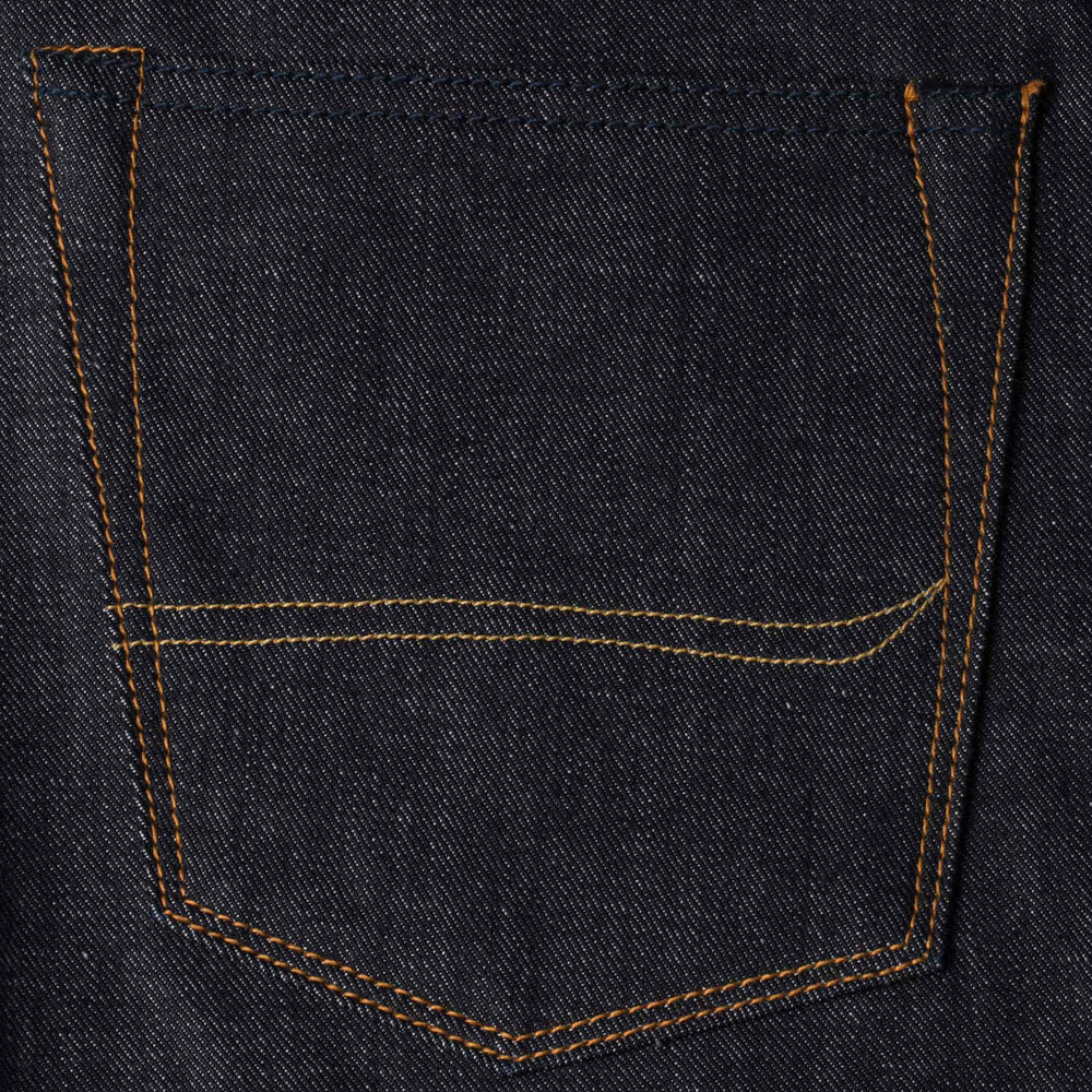 mens slim japanese selvedge denim jeans | indigo | made in japan | benzak BDD-006 grey cast 13.5 oz. LHT | pocket