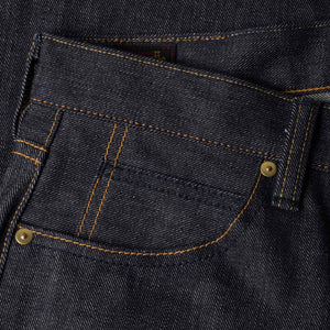 mens slim japanese selvedge denim jeans | indigo | made in japan | benzak BDD-006 grey cast 13.5 oz. LHT | coin pocket