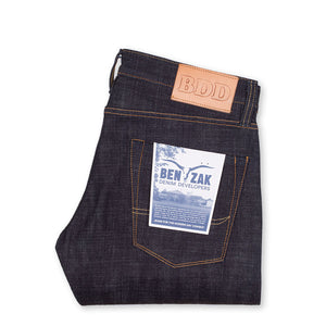 men's slim fit japanese selvedge denim jeans | indigo | made in japan | benzak BDD-006 heavy slub 16 oz. RHT | back