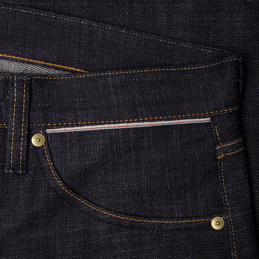men's slim fit japanese selvedge denim jeans | indigo | made in japan | benzak BDD-006 heavy slub 16 oz. RHT | selvedge sixth pocket