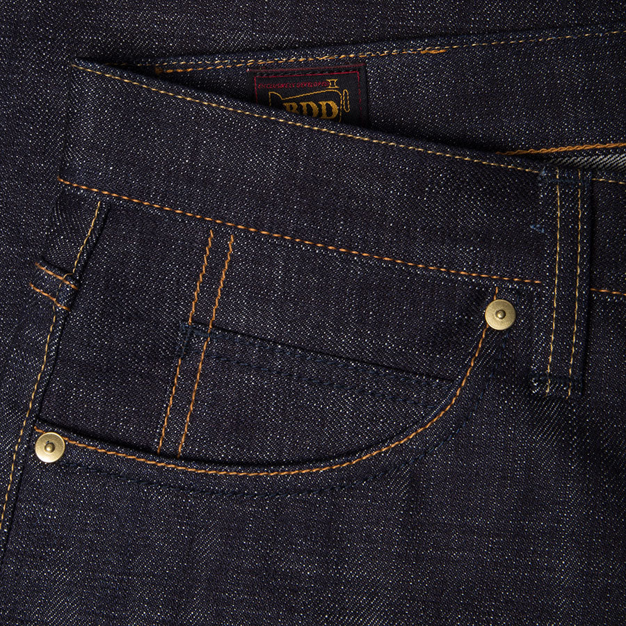 men's slim fit japanese selvedge denim jeans | indigo | made in japan | benzak BDD-006 heavy slub 16 oz. RHT | coin pocket