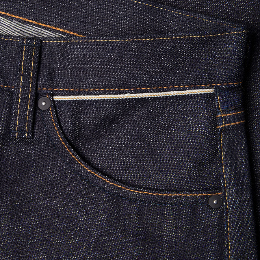 men's straight fit japanese selvedge denim jeans | indigo | made in japan | benzak BDD-707 special #1 low tension 14 oz. RHT | hidden sixth pocket | hidden 6th pocket