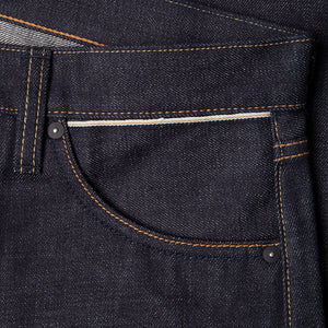 men's straight fit japanese selvedge denim jeans | indigo | benzak BDD-707 special #1 low tension 14 oz. RHT | selvedge sixth pocket