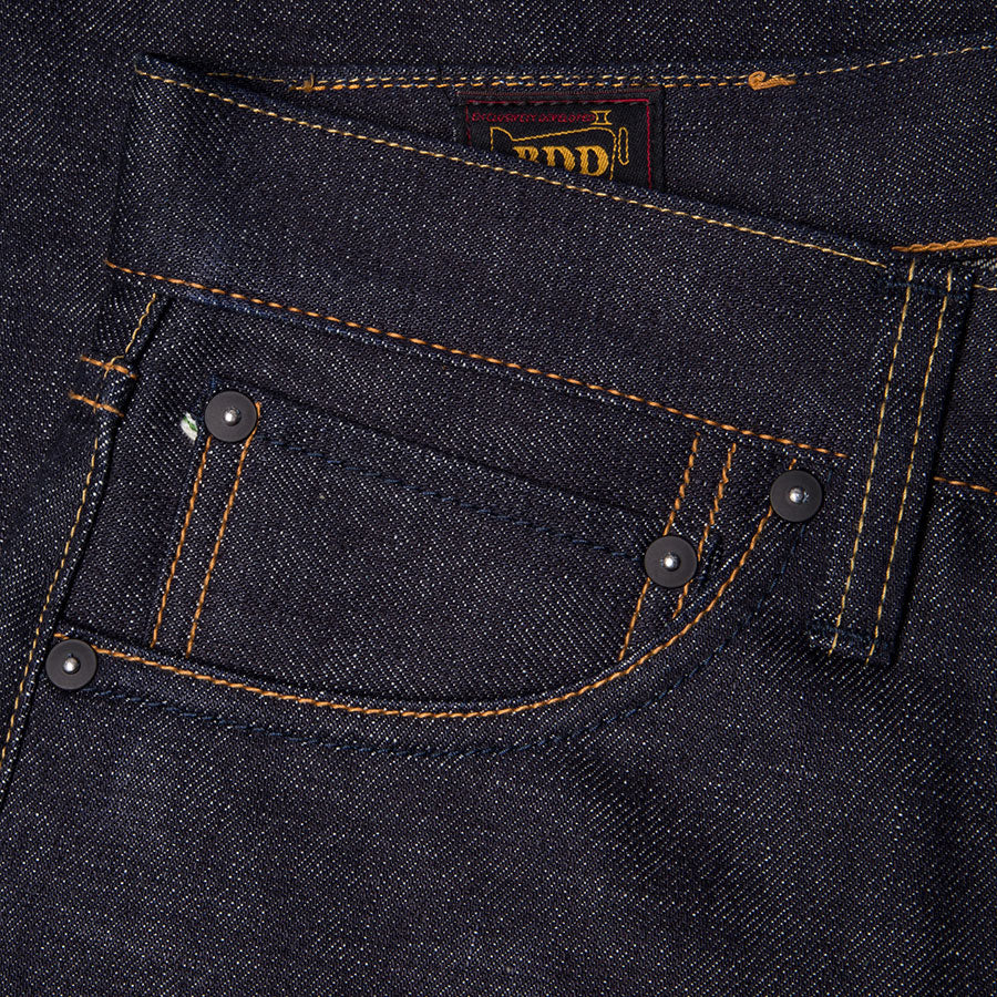 men's straight fit japanese selvedge denim jeans | indigo | made in japan | benzak BDD-707 special #1 low tension 14 oz. RHT | coin pocket